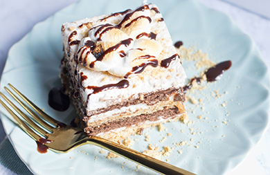 Vegan S'mores ice box cake