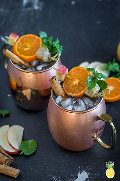 autumnal apple cider moscow mules