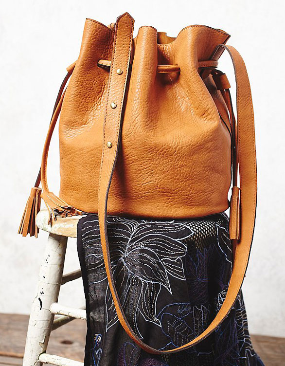 Bleeker Bucket Bag By Free People Bags Are Hot Right Now Making This Tan Vegan Leather Bundle A Great Way To Get In On The Trend