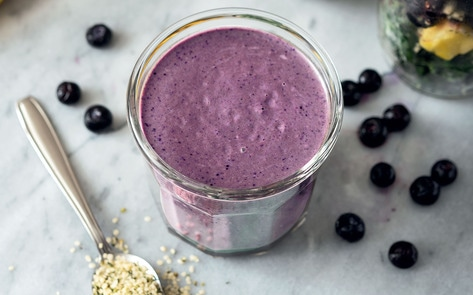 Vegan Blueberry Smoothie Jar