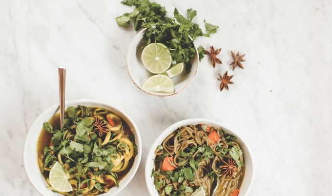 Vegan Phở-Inspired Zucchini Noodles