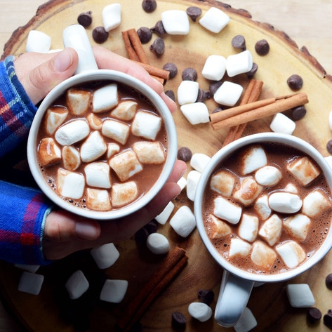 Vegan Campfire Almond Hot Chocolate
