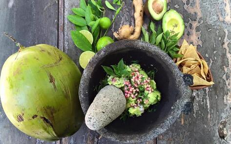 Leveled-Up Guacamole with Pomegranate & Cacao