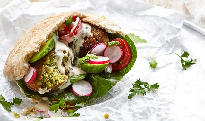 Perfect Falafel Pita Vegnews