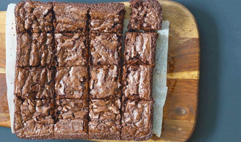 Vegan Chocolate Chip Brownies