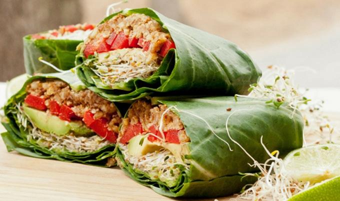 Raw Green Lunch Wrap