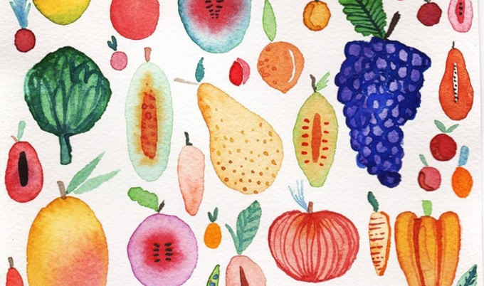 VegNews.FruitandVegWatercolor