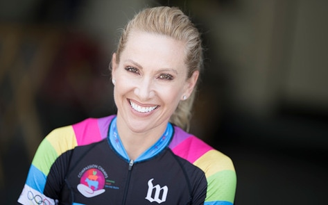 Olympic Medalist Bicycles Into Massive Vegan Concert, FTW