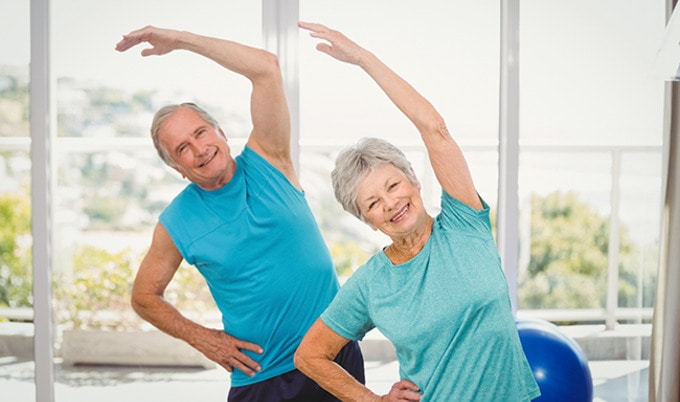 VegNews.ExercisingElderlyCouple