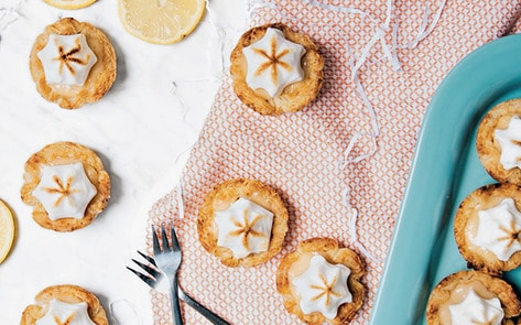 Vegan Lemon Meringue Pie Tarts