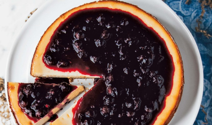 VegNews.TheBestBlueberryCheesecake.Feature
