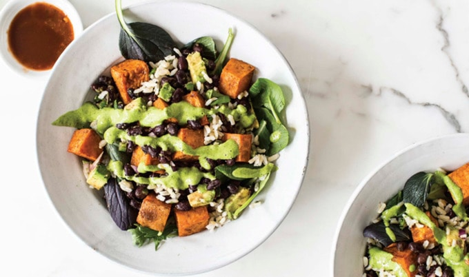 VegNews.ChimichurriSweetPotatoBowls.Feature