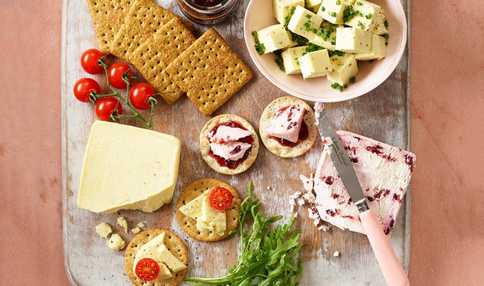 Christmas Cheese Board.Asda Launches Vegan Cheese Board For Christmas Vegnews