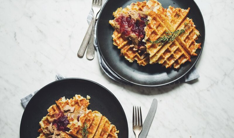 VegNews.ThanksgivingWafflesHotforFood