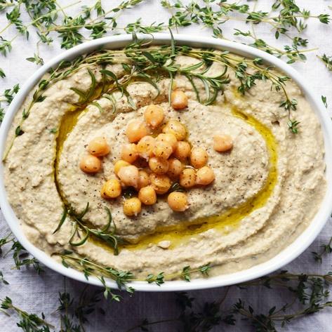 Vegan Holiday Stuffing-Flavored Hummus