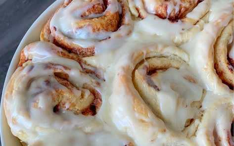 Easy Vegan Cinnamon Rolls with Cream Cheese Icing