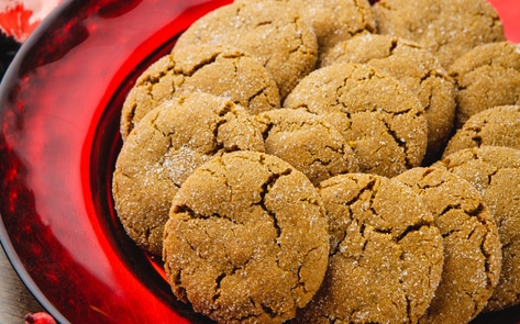 Vegan Chewy Ginger Snap Cookies