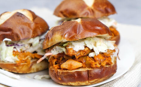 Vegan BBQ Pulled Jackfruit Sliders