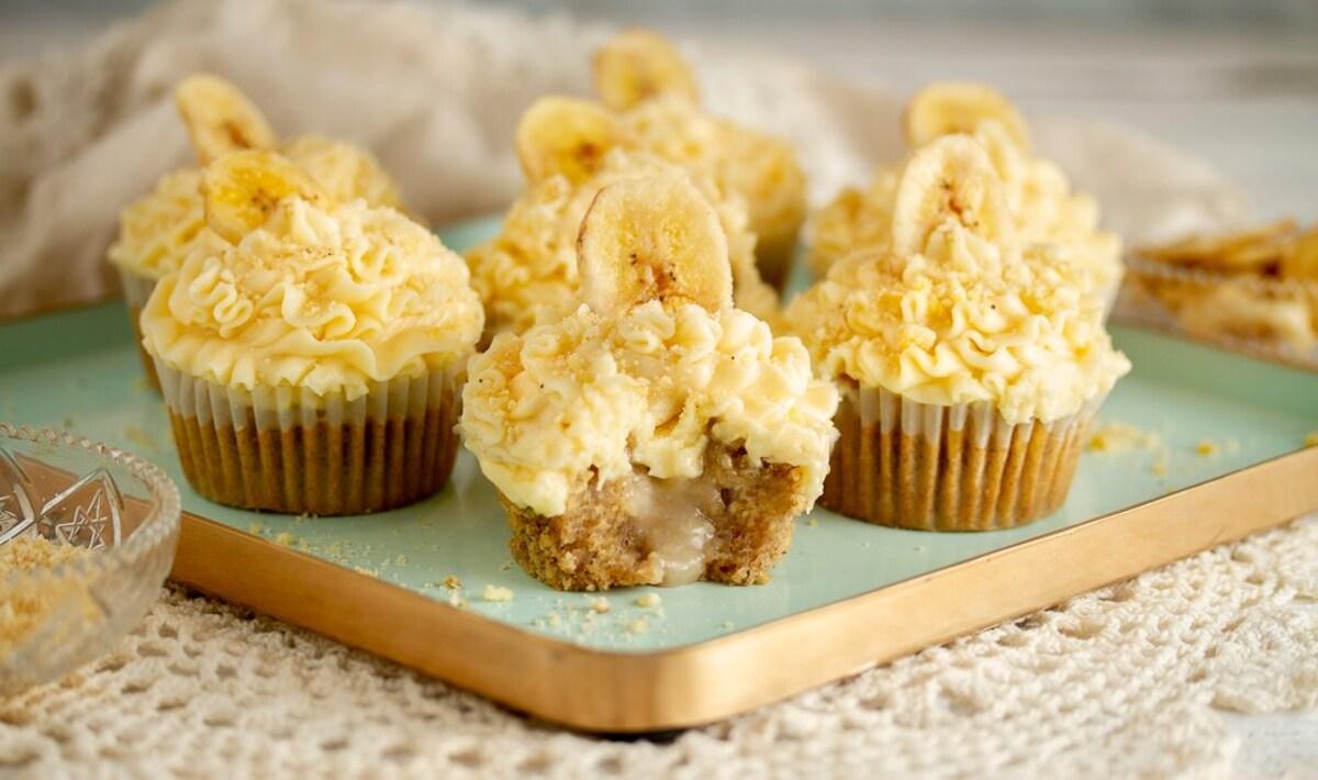 Vegan and Gluten-Free Banana Cream Cupcakes