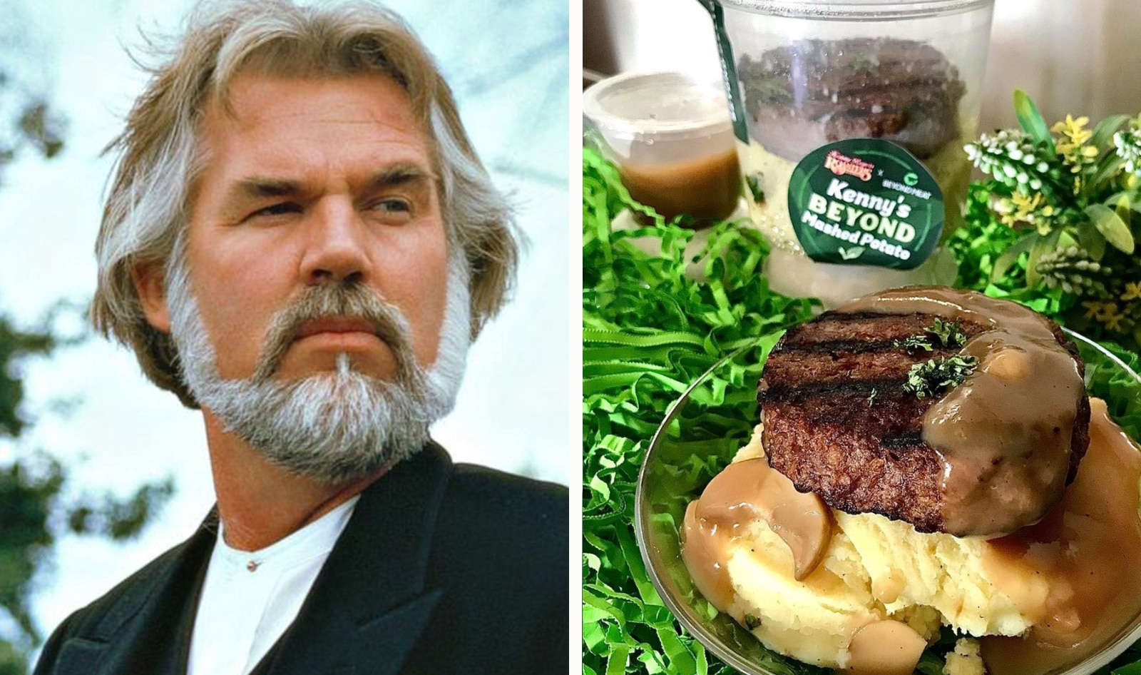 Kenny Rogers' Chicken Chain Now Serves Mashed Potatoes Topped with Vegan Beyond Burgers