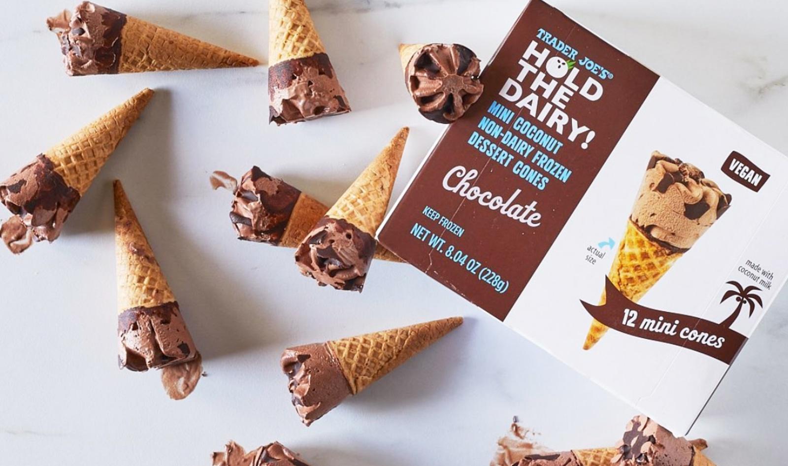 Trader Joe's Just Launched Mini Vegan Ice Cream Cones