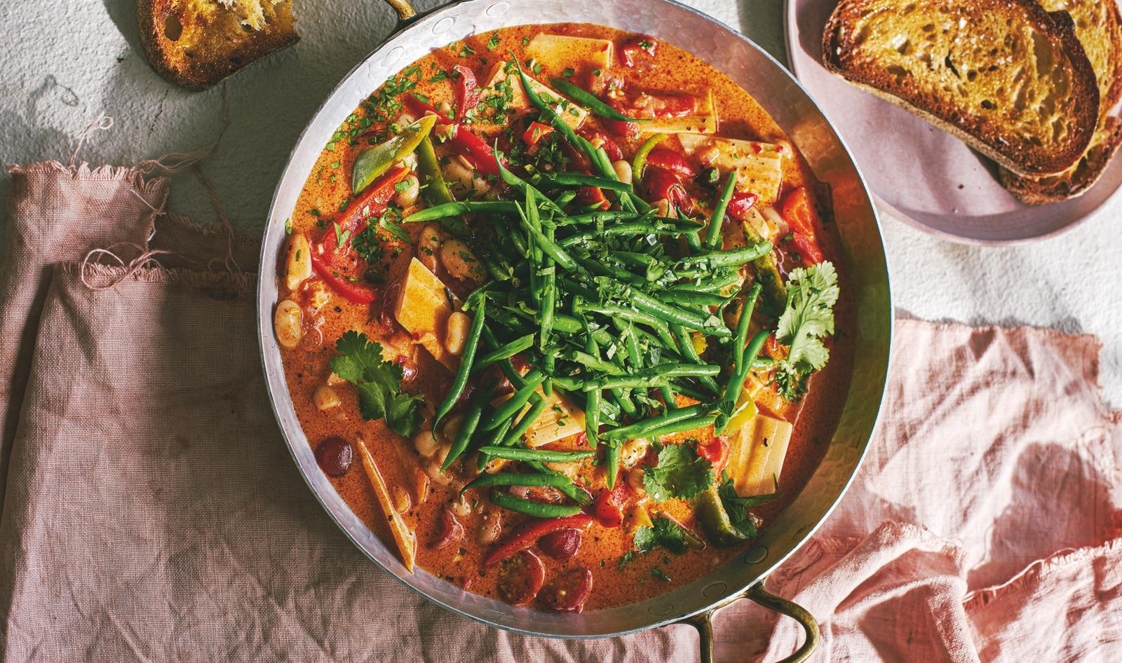 Vegan Brazilian Moqueca (Hearts of Palm Seafood Stew)
