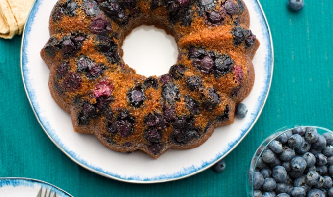 Vegan Blueberry-Orange Bundt Cake