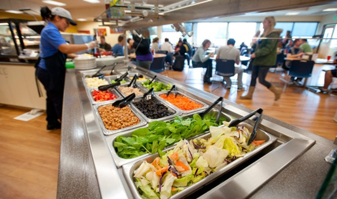 VegNews.com - Cafeteria salad buffet