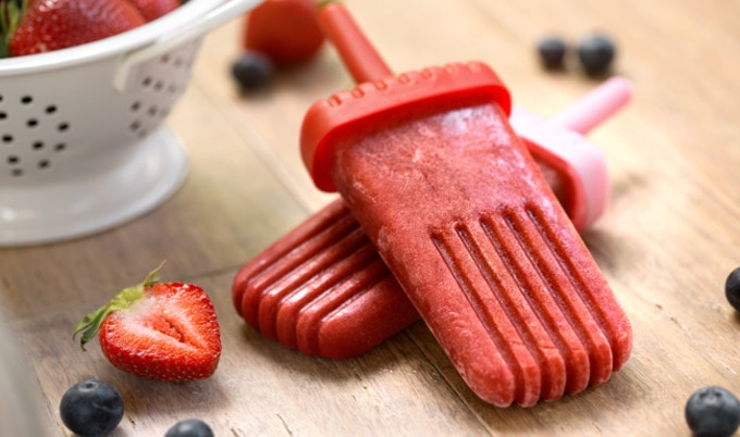 Very Berry Vegan Popsicles