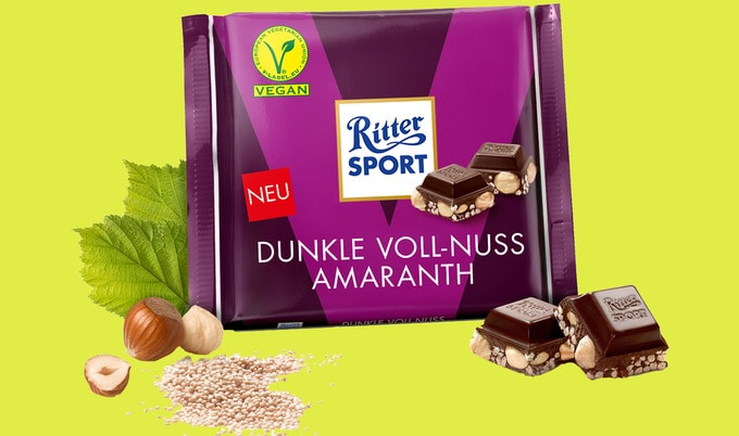 Ritter Sport Debuts Its First Vegan-Certified Bars
