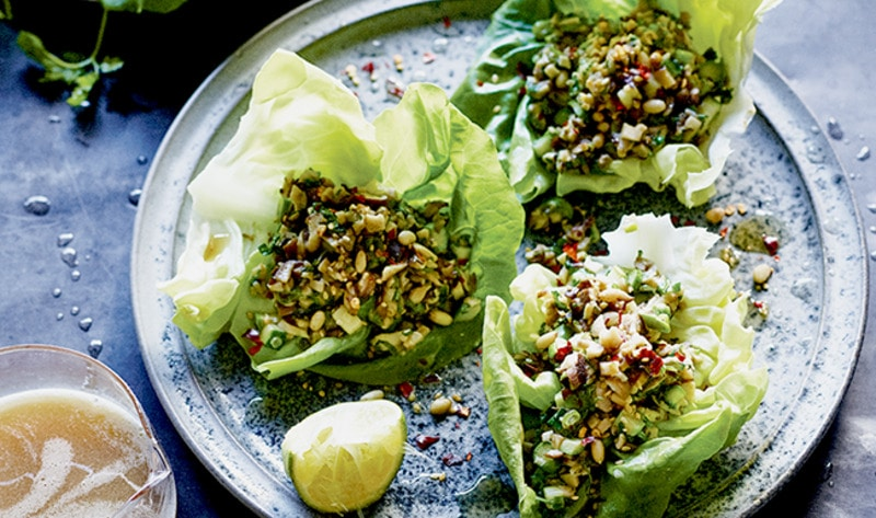 Shiitake-Lime Lettuce Cups