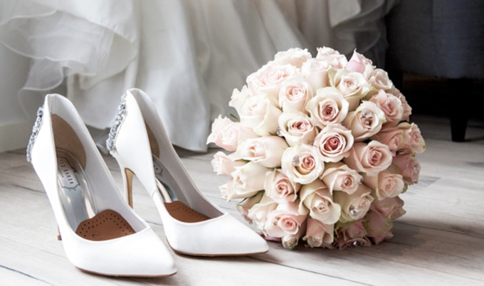 VegNews.WeddingBouquetShoes