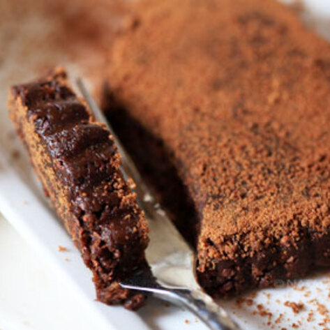 Raw Sugar-Crusted Chocolate Tart