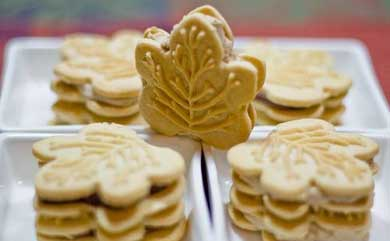 ... this fall season with a box of Trader Joe's Maple Leaf Cookies
