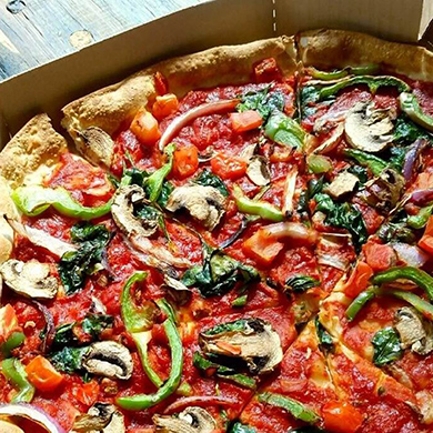 Domino's vegan pizza
