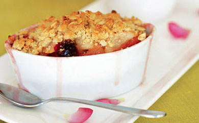 pears cored and a warm from the oven crisp pear apple cranberry crisp ...