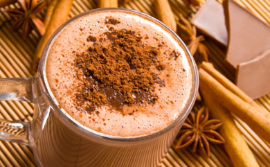 Spice up Thanksgiving with this sweet, chocolaty drink.