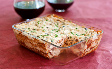Vegan Two-Cheese Lasagna