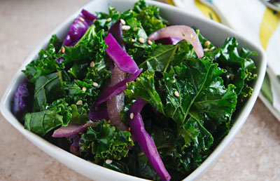 Stir-Fried Sesame Kale