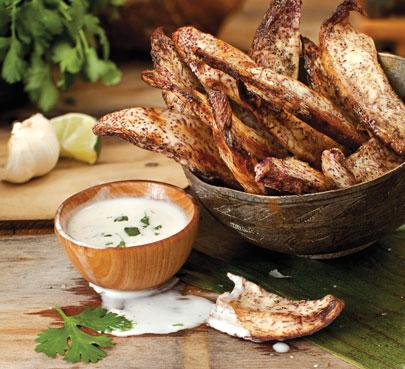 Garlic Taro Fries