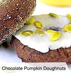 VegNews.ChocolatePumpkinDoughnuts