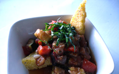 Crispy Polenta Triangles